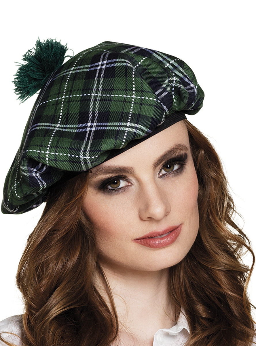Comprar Boina Escocesa Verde para mujer   Gorros 89a54a77dab