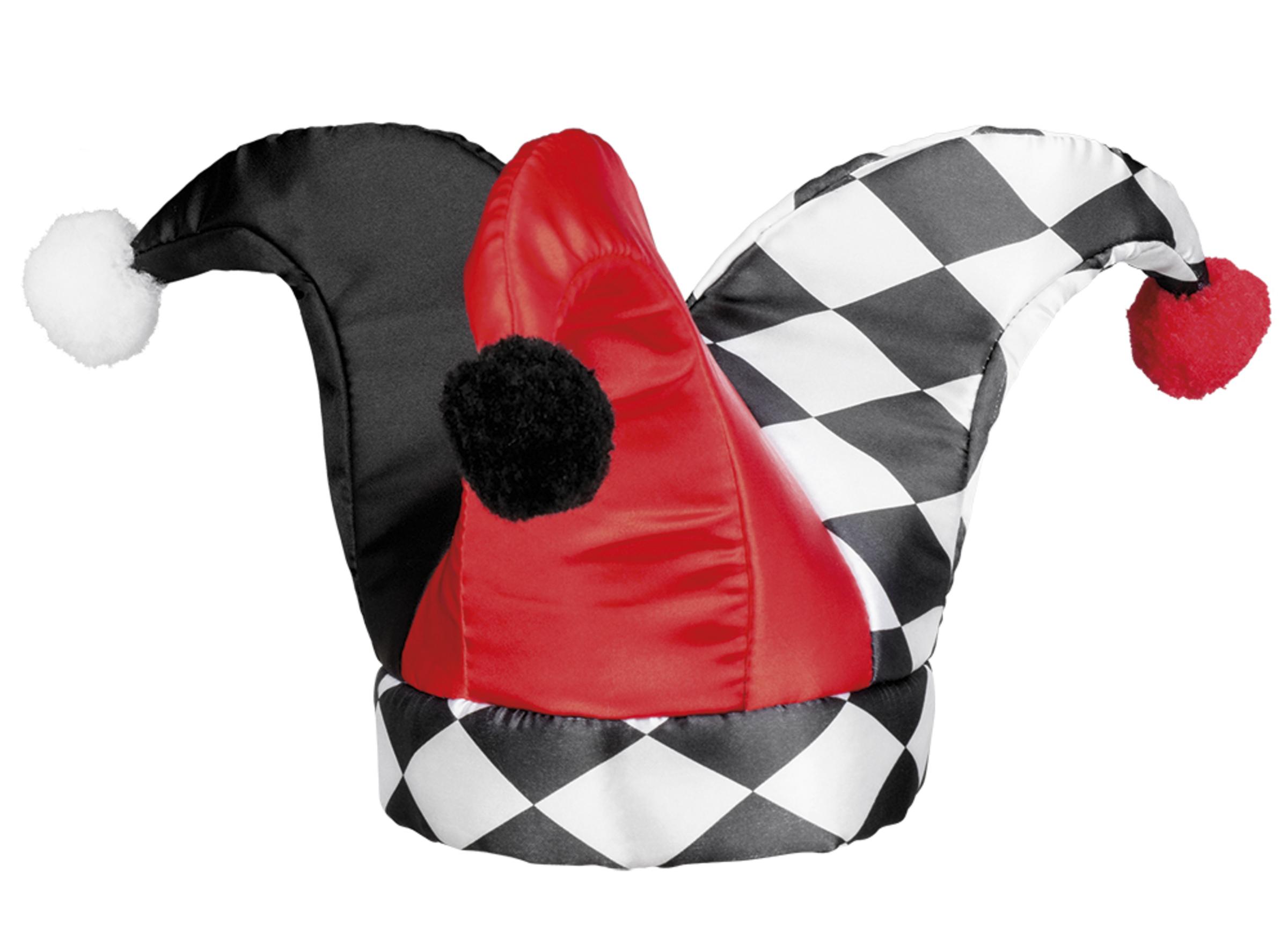 0b9db77dee55e Comprar Gorro de arlequín rojo y negro para adulto   Gorros