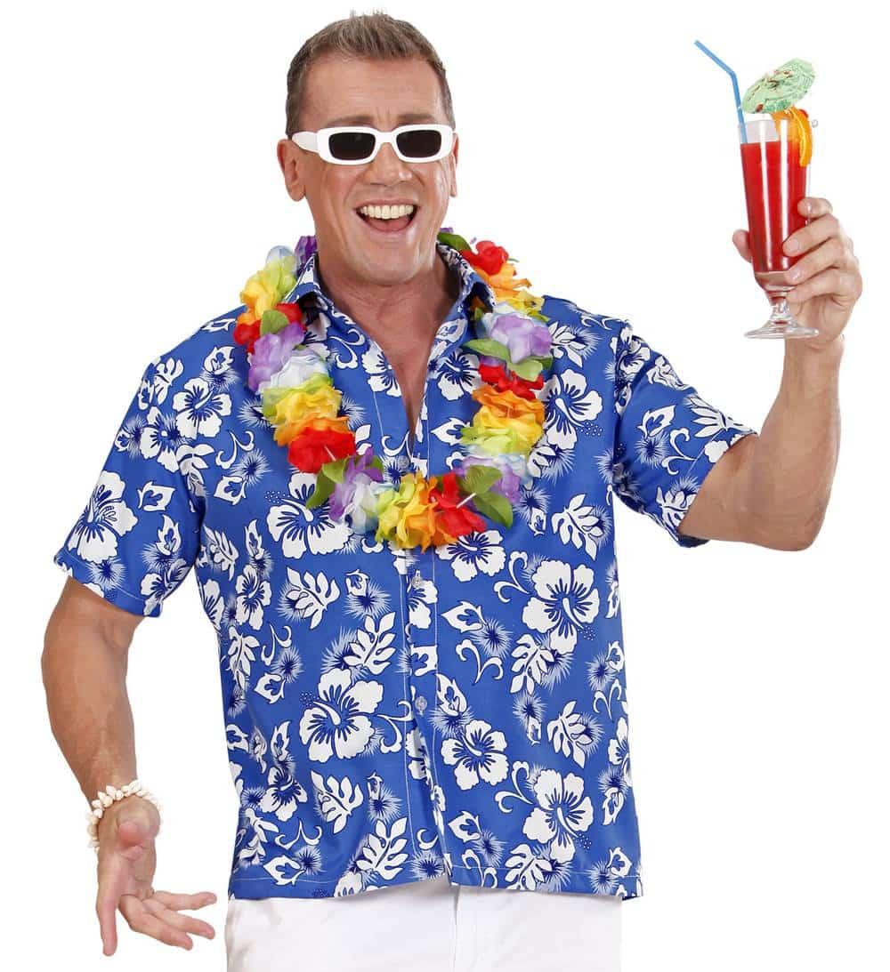 0eeee97dd Comprar Camisa Hawaiana Blue.   Disfraces de Hawaianos y Accesorios ...