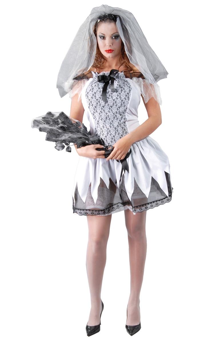 Comprar disfraz halloween novia cadaver talla 38 40 a 15 for Disfraces baratos
