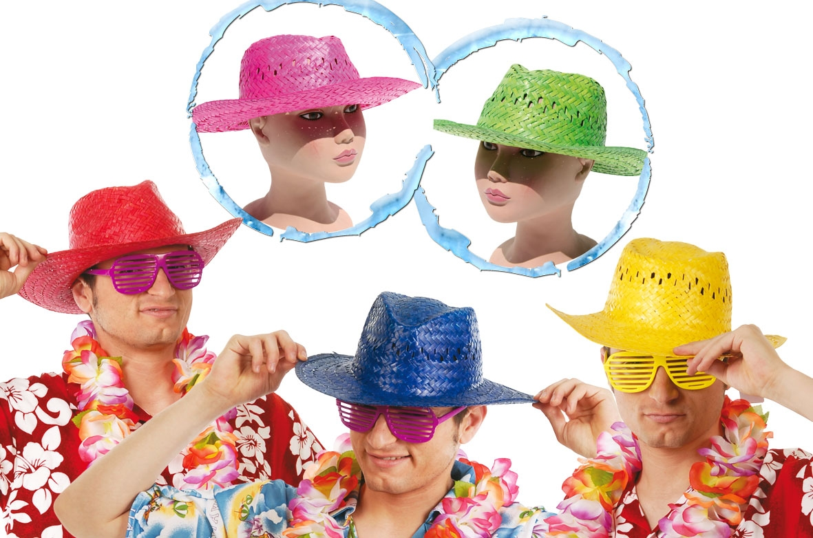 Comprar Sombrero Verano Paja Colores surtidos   Gorros 7fd7244e593