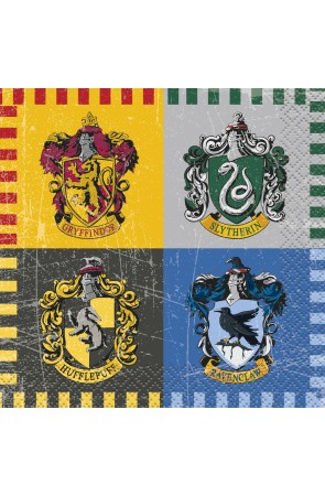 16 servilletas pequeñas Harry Potter - Hogwarts Houses