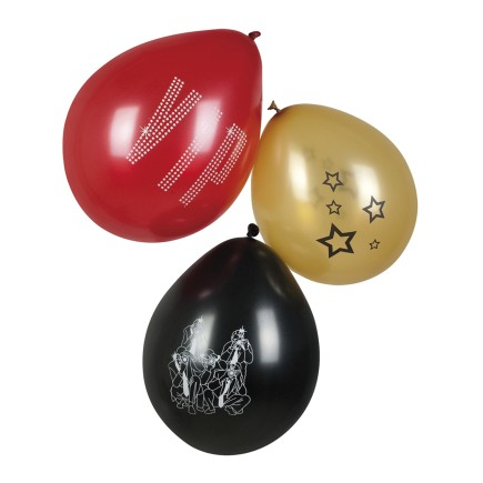 3 globos para fiesta VIP colores surtidos (25 cm) - Elegant Collection