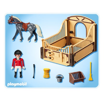 5110 Trakehner con Establo Marrón y Amarillo PLAYMOBIL