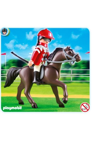 5112 Caballo Árabe con Establo Marrón y Amarillo PLAYMOBIL