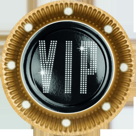 6 platos para fiesta VIP (23 cm) - Elegant Collection