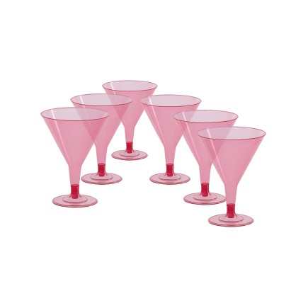 6 vasos de cocktail rosas (125 ml)