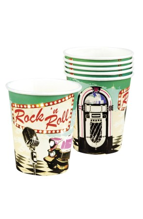 6 Vasos Rock 'n Roll Grease 25cl