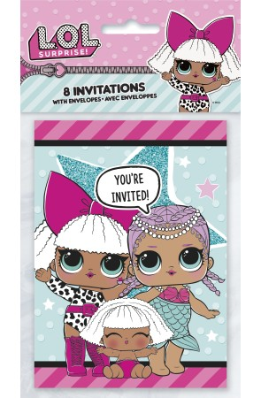 8 invitaciones LOL Surprise - LOL Friends