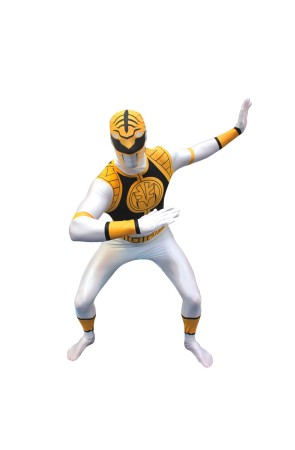 Disfraz de Power Ranger Blanco Morphsuit