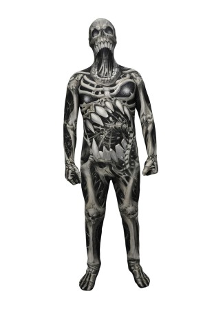 Disfraz de calavera y huesos Monster Collection Morphsuits infantil