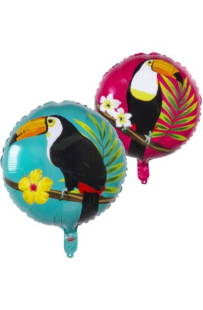 Globo de foil con tucán dos colores (45 cm) - Toucan Party
