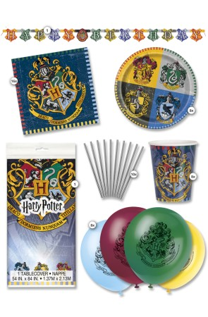 Kit de fiesta Harry Potter Casas 8 personas premium