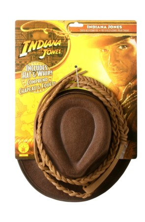 Kit de sombrero y látigo Indiana Jones para niño