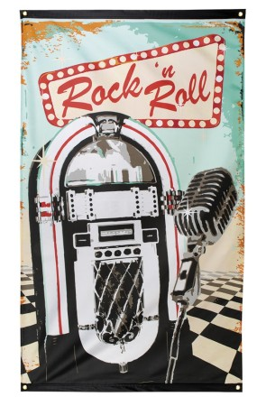 Bandera Rock 'n Roll Grease 150x90cm