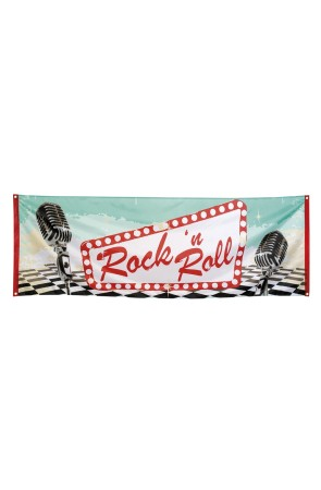 Banner Rock 'n Roll Grease 74x220cm