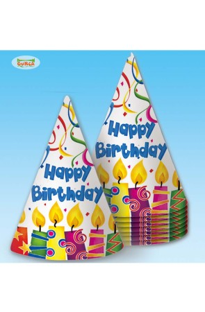"BOLSA 8 GORROS ""HAPPY BIRTHDAY"""
