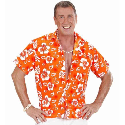 Camisa Hawaiana Orange . ita