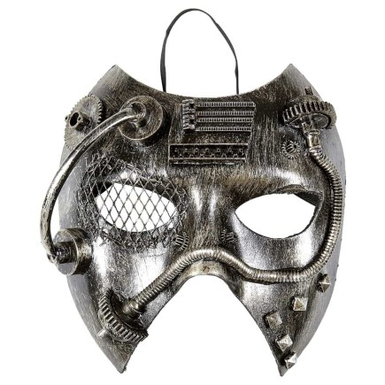 Careta Steampunk Plata