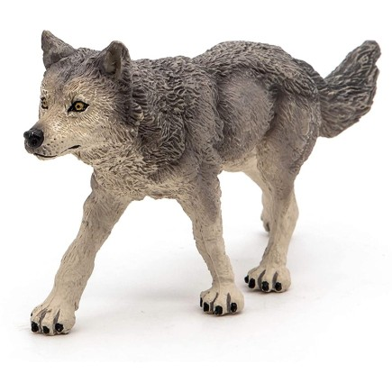 Figura Animal del Bosque Lobo Gris