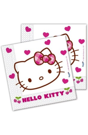 PACK 20 SERVILLETAS HELLO KITTY HEARTS