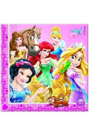 PACK 20 SERVILLETAS PRINCESS ANIMALS