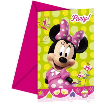 PACK 6 INVITACIONES MINNIE