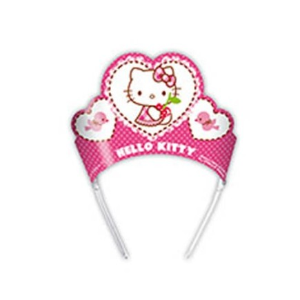 PACK 6 TIARAS HELLO KITTY HEARTS