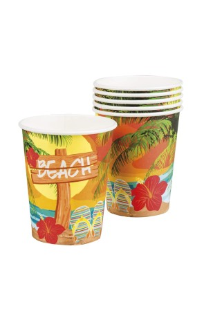 Pack de 6 Vasos Hawaianos 25 cl
