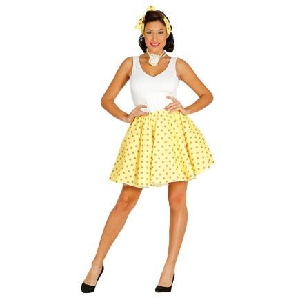 Set adulto Pin Up Falda amarilla  talla 42-44