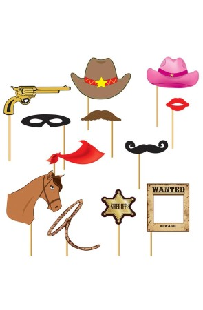 Set Photocall Cowboy 12 pcs